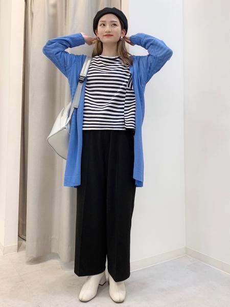 Bou JeloudのボーダーTOPSを使ったコーディネートを紹介します。|Rakuten Fashion(楽天ファッション/旧楽天ブランドアベニュー)1104077