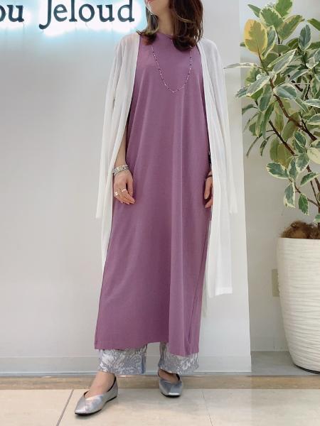 Bou Jeloudの【WEB限定】USコットンバックスリット半袖カットワンピースを使ったコーディネートを紹介します。|Rakuten Fashion(楽天ファッション/旧楽天ブランドアベニュー)1104268