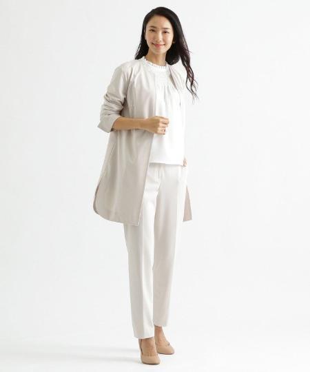 TRANS WORKの【セットアップ対応】【美シリーズ】【ウォッシャブル】トリアセスヴィンソロポンチノーカラージャケットを使ったコーディネートを紹介します。|Rakuten Fashion(楽天ファッション/旧楽天ブランドアベニュー)1105184