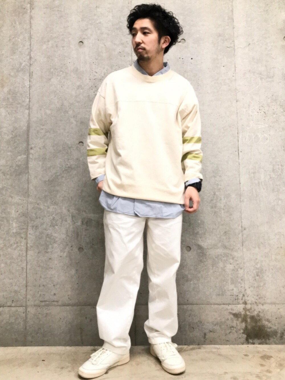 coenのUSAコットンフットボール7分袖ラインTシャツ#を使ったコーディネートを紹介します。|Rakuten Fashion(楽天ファッション/旧楽天ブランドアベニュー)1106426