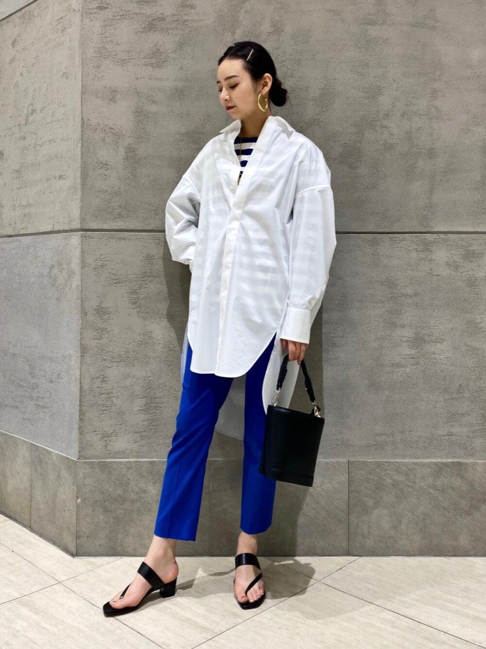 UNITED ARROWSのUBC ドビー カラー スリムパンツ 21SSを使ったコーディネートを紹介します。|Rakuten Fashion(楽天ファッション/旧楽天ブランドアベニュー)1106640