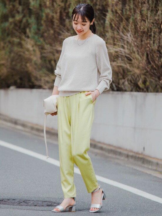 UNITED ARROWS green label relaxingの◆CFC T/R ドロスト タック イージー パンツ <34-44サイズ>を使ったコーディネートを紹介します。|Rakuten Fashion(楽天ファッション/旧楽天ブランドアベニュー)1107175