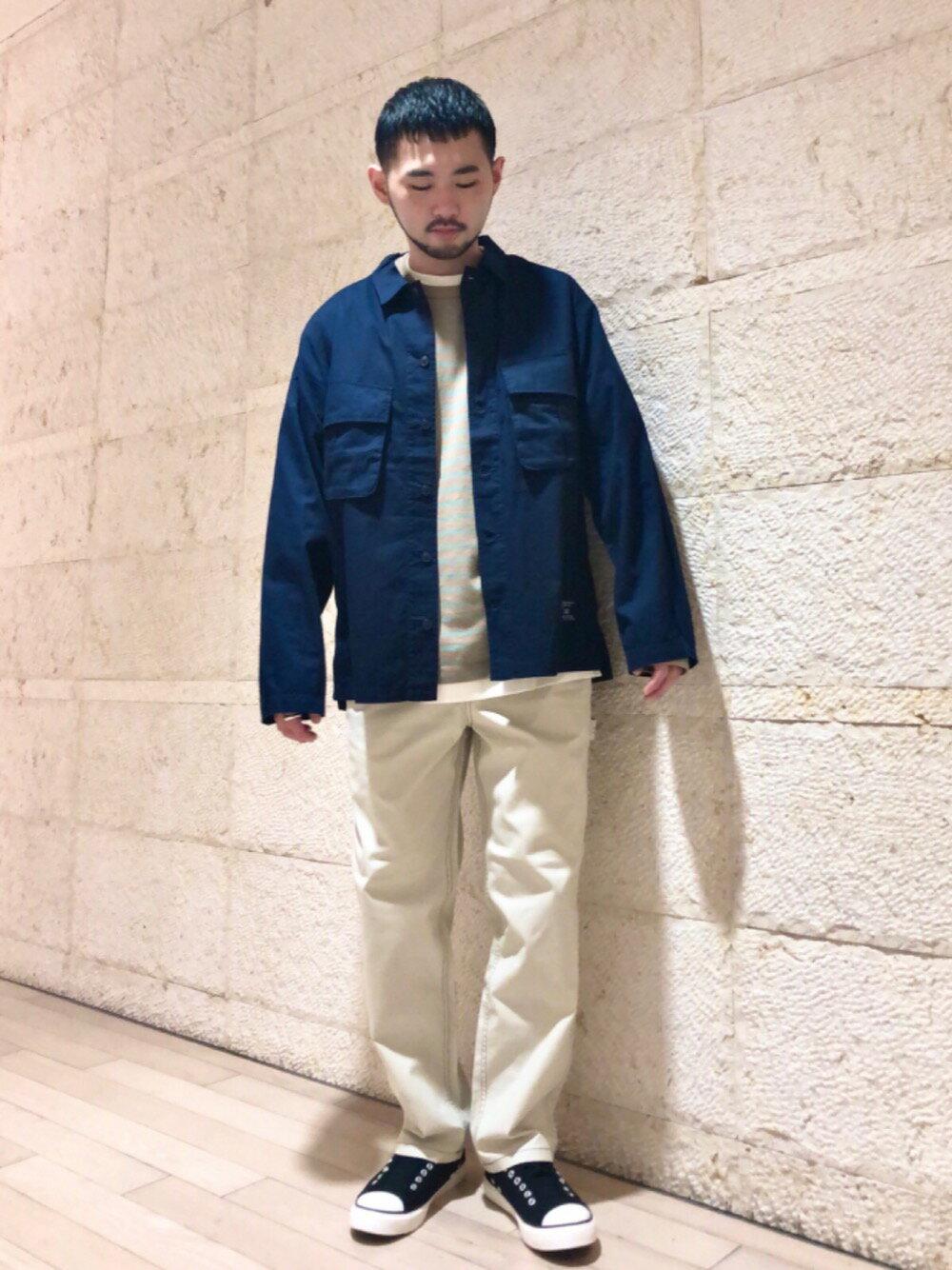 coenのキャンバスペインターイージーパンツ(シェフパンツ)を使ったコーディネートを紹介します。|Rakuten Fashion(楽天ファッション/旧楽天ブランドアベニュー)1107583