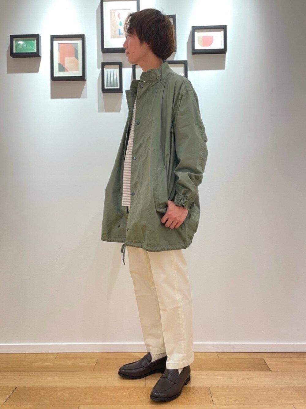 UNITED ARROWS green label relaxingのSC コンフィヤーン ピーチ ボーダー クルーネック 長袖 カットソーを使ったコーディネートを紹介します。|Rakuten Fashion(楽天ファッション/旧楽天ブランドアベニュー)1114635
