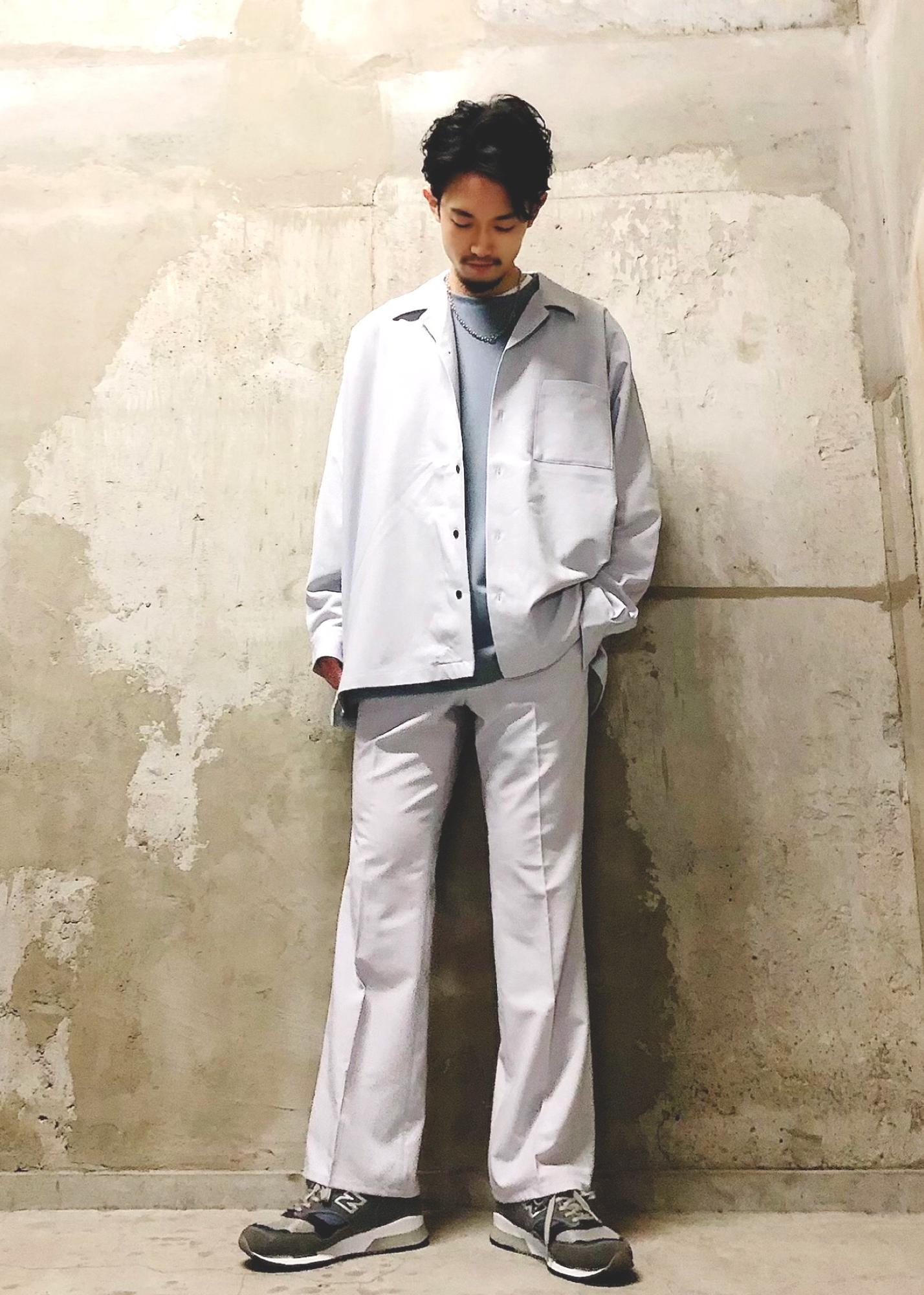 JUNRedの【セットアップ対応】エアリーストレッチセミフレアを使ったコーディネートを紹介します。|Rakuten Fashion(楽天ファッション/旧楽天ブランドアベニュー)1116465