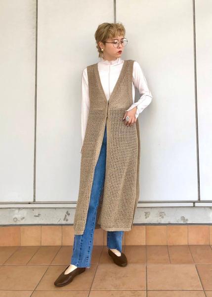 KBFのシアーギンガムチェックカットソーを使ったコーディネートを紹介します。|Rakuten Fashion(楽天ファッション/旧楽天ブランドアベニュー)1105300