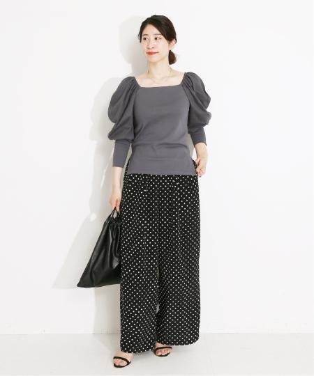 VERMEIL per ienaのドットワイドパンツ◆を使ったコーディネートを紹介します。|Rakuten Fashion(楽天ファッション/旧楽天ブランドアベニュー)1105445