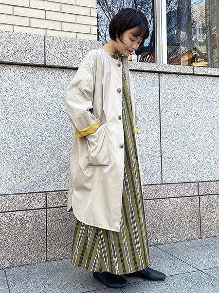 Bshopの【LE GLAZIK】バティックロングワンピース WOMENを使ったコーディネートを紹介します。|Rakuten Fashion(楽天ファッション/旧楽天ブランドアベニュー)1105699