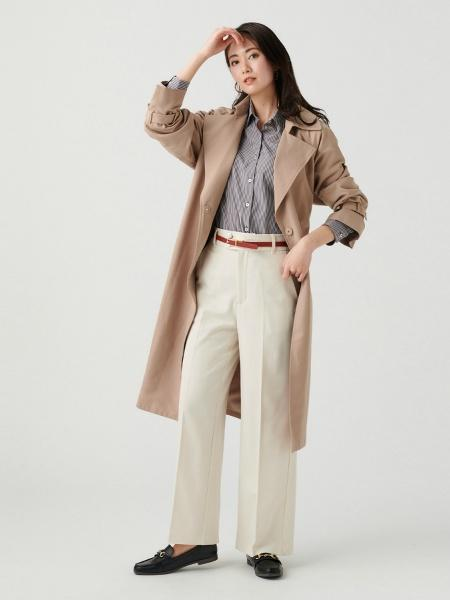 BRICK HOUSE by Tokyo Shirtsの(W)形態安定ノーアイロン ウィメンズシャツ 長袖 レギュラー衿 オーガニックコットン100%を使ったコーディネートを紹介します。 Rakuten Fashion(楽天ファッション/旧楽天ブランドアベニュー)1108440