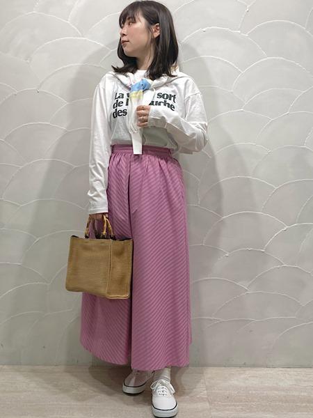 SHIPSのSHIPS any:ジャカードAラインスカートを使ったコーディネートを紹介します。|Rakuten Fashion(楽天ファッション/旧楽天ブランドアベニュー)1108661