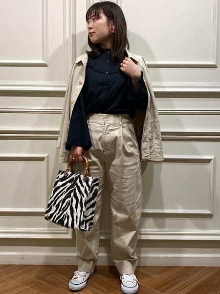 SHIPSのSHIPS any: リヨセル カバーオールを使ったコーディネートを紹介します。|Rakuten Fashion(楽天ファッション/旧楽天ブランドアベニュー)1109070