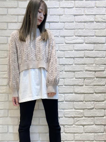 INGNIの7Gスカシショート丈ニットを使ったコーディネートを紹介します。|Rakuten Fashion(楽天ファッション/旧楽天ブランドアベニュー)1109519