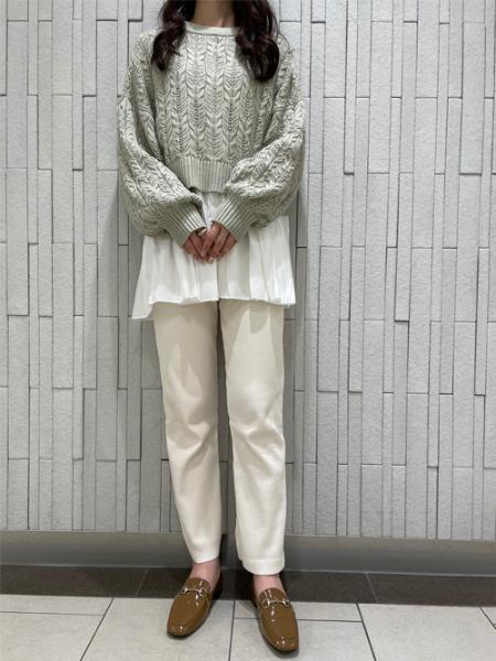 INGNIの7Gスカシショート丈ニットを使ったコーディネートを紹介します。|Rakuten Fashion(楽天ファッション/旧楽天ブランドアベニュー)1109762