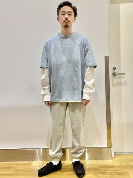 GAPのオーバーサイズ クルーネックtシャツを使ったコーディネートを紹介します。|Rakuten Fashion(楽天ファッション/旧楽天ブランドアベニュー)1110755