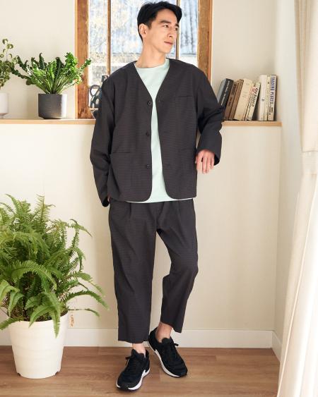 B:MING LIFE STORE by BEAMSのB:MING by BEAMS / ドットエア(R) ノーカラーラペル ジャケット(セットアップ対応)を使ったコーディネートを紹介します。 Rakuten Fashion(楽天ファッション/旧楽天ブランドアベニュー)1111131