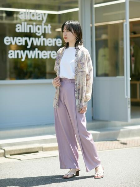 ROSE BUDのトラウザーズパンツを使ったコーディネートを紹介します。|Rakuten Fashion(楽天ファッション/旧楽天ブランドアベニュー)1112760