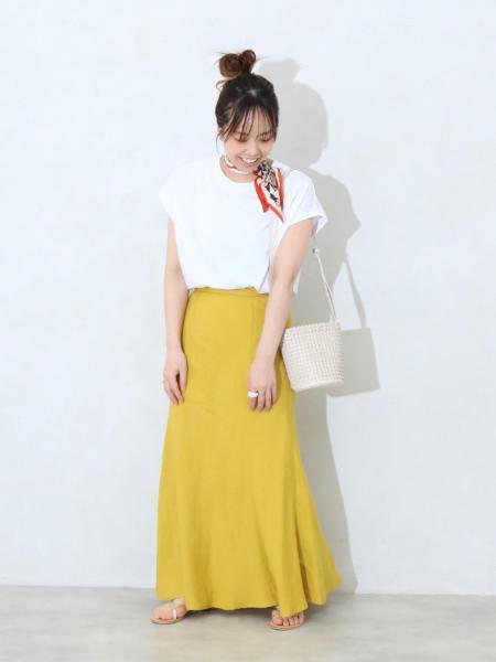 B.C STOCKのシルケットフレンチ袖Tシャツ◆を使ったコーディネートを紹介します。|Rakuten Fashion(楽天ファッション/旧楽天ブランドアベニュー)1113371
