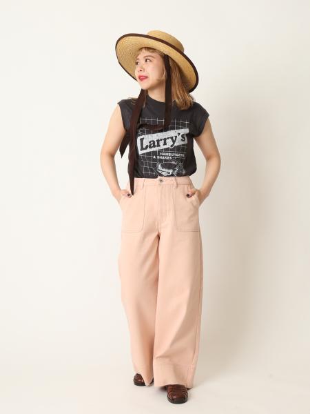 U by SPICK&SPANのカラーワイドパンツ◆を使ったコーディネートを紹介します。|Rakuten Fashion(楽天ファッション/旧楽天ブランドアベニュー)1113583