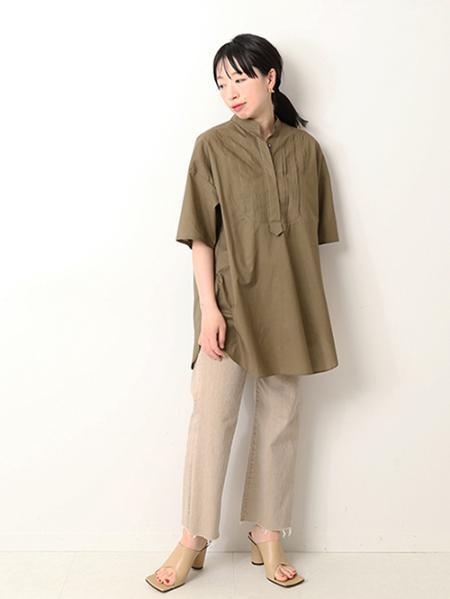 JOURNAL STANDARDのスタンドカラー ピンタックブラウス◆を使ったコーディネートを紹介します。|Rakuten Fashion(楽天ファッション/旧楽天ブランドアベニュー)1115547